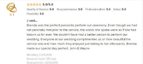 Photo: 5 Star Review from John & Wayne married 3/11/16 - SameSexWedding.biz