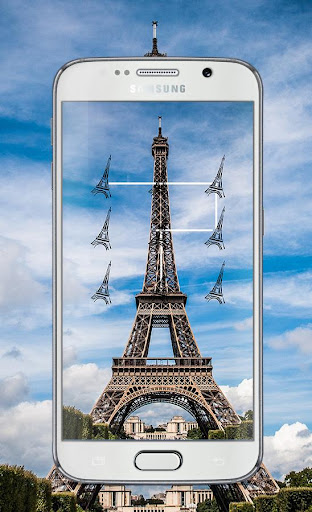 Paris Pattern Lock Screen