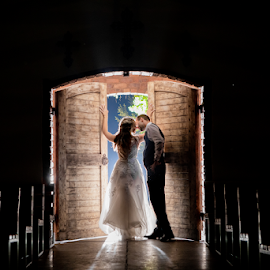 Kiss me in the Chapel by Lood Goosen (LWG Photo) - Wedding Bride & Groom ( bride, love, wedding dress, groom, wedding photographer, wedding photography, bride groom, wedding day, wedding photographers, brides, kiss, lood goosen, www.lwgphoto.co.za )
