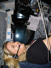 Photo: Getting ready to take off to the International Space Station at the NASA Tweet-Up in the flight simulator.