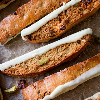 White Chocolate Cranberry Pistachio Biscotti