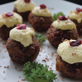 Dairy and Gluten Free No-Cook Alternative Mini Christmas Pudding.