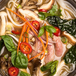 Detox Pho with Beef, Mushrooms, and Kale Recipe