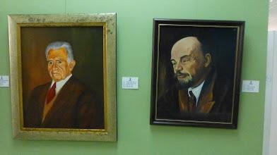 Photo: Some portraits in the Art Museum, Ambato