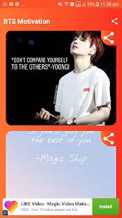 Download Bts Motivational Quotes For PC Windows and Mac apk screenshot 1