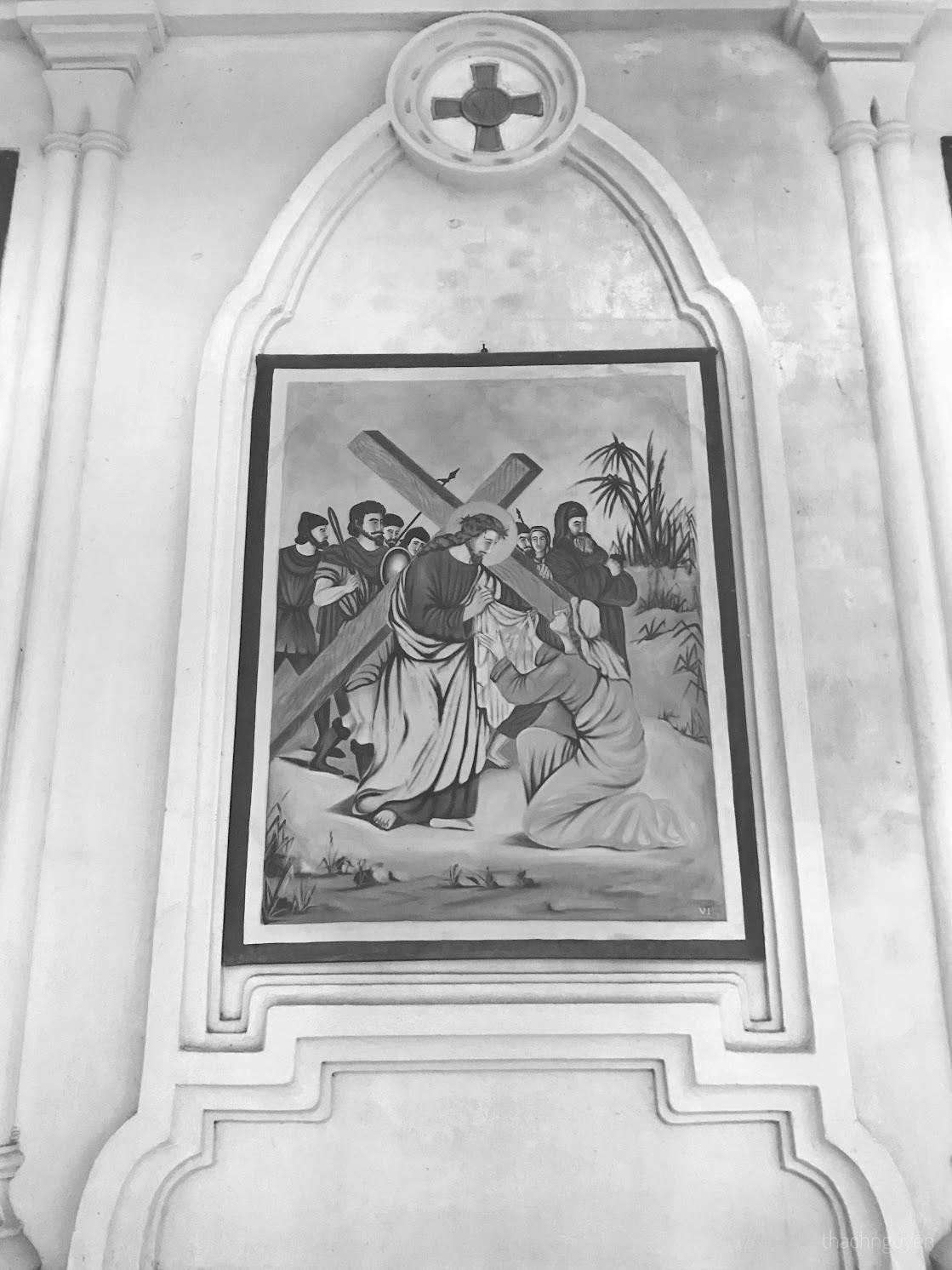 bức tranh trên tường đan viện