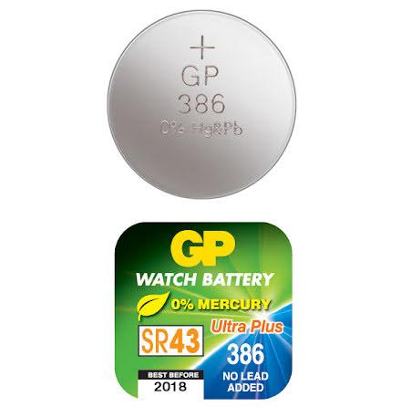 Batteri GP Silveroxid SR43 386
