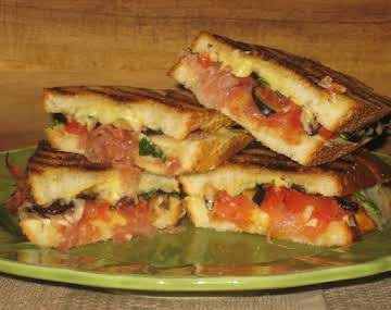 Garlicky Grilled Cheese Sandwiches with Prosciutto