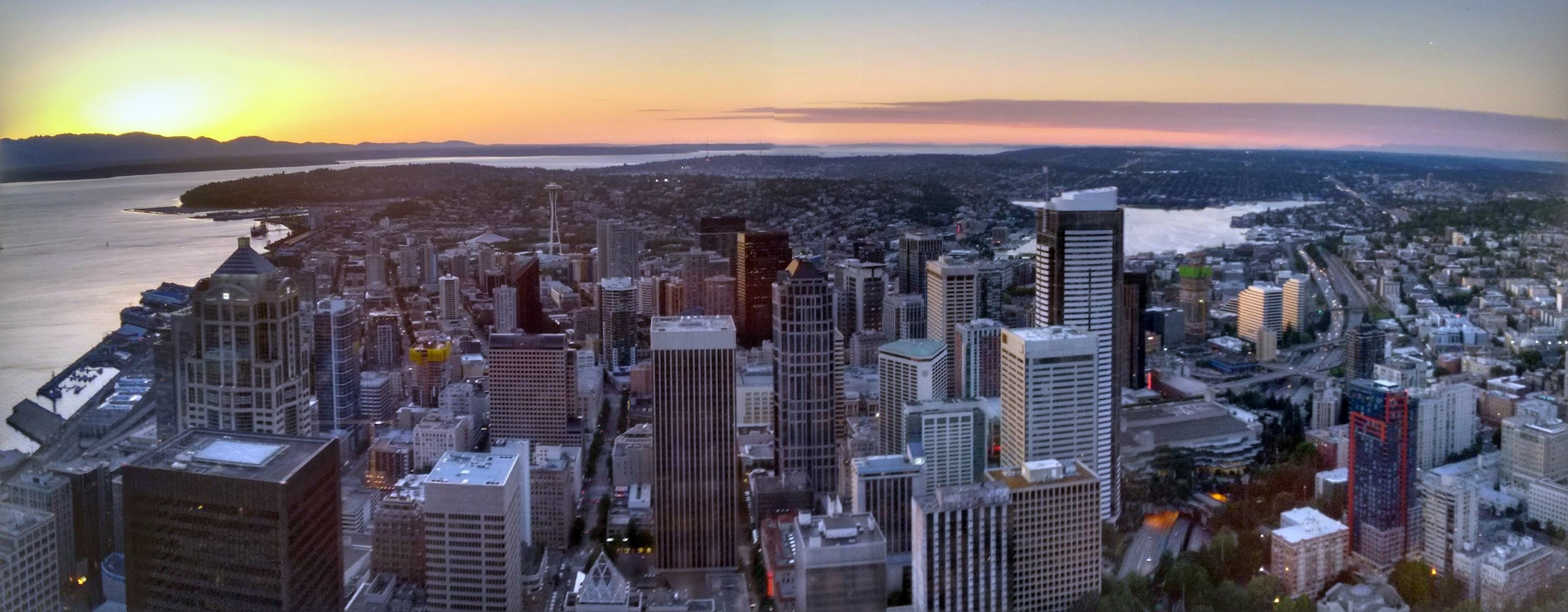 Seattle Downtown from Columbia Center Sky View Observatory