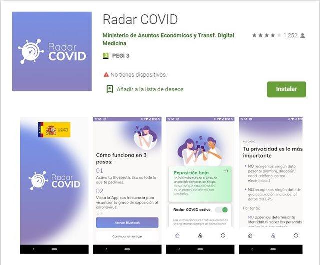 Imagen de la aplicación en las tiendas de apps.
