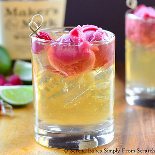 Whiskey Raspberry Lime Floats Recipe