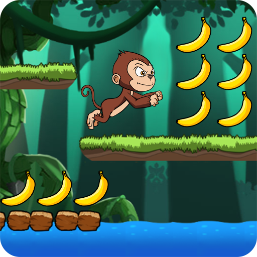 Banana world - Bananas island - hungry monkey