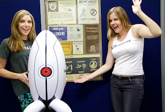 Photo: Mary and Erin from our quality content team showing off their portal corner!