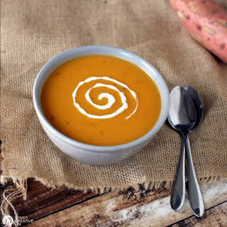 Slow Cooker Spicy Sweet Potato Soup.