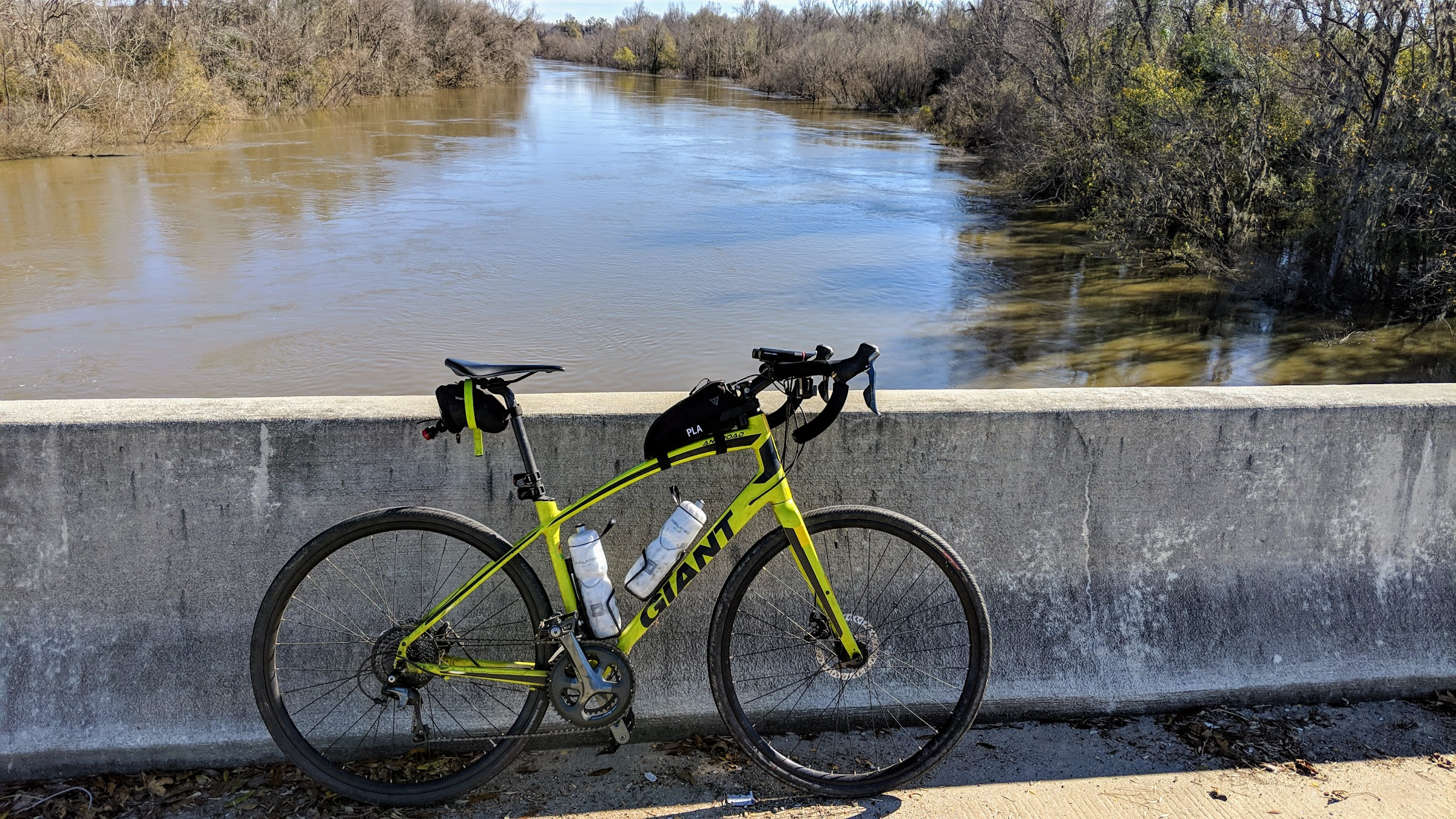 Bike on Santee River bridge