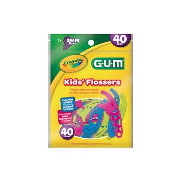 Flossers Infantil Hilo   Dental Crayola GUM x 40und