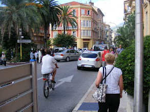 "Photo: Our last Cote d'Azur day starts in the resort town of Menton (""The Pearl of France""), located very close to the Italian border, here on the small square which includes City Hall."
