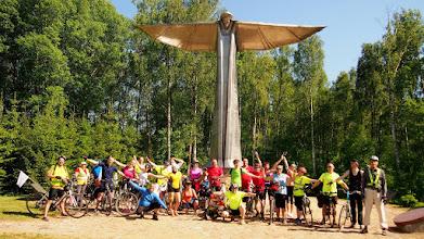 Photo: Panemunyje stovi paminklas partizanams - penkių metrų aukščio su aštuonių metrų pločio išskleistais sparnais angelas.