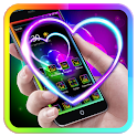 Neon edge lighting neon heart wallpaper theme icon