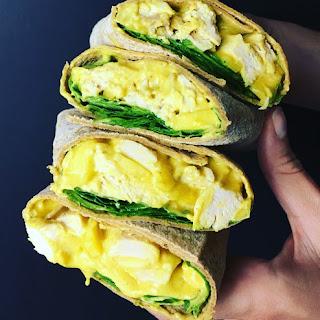 Mango Chicken Salad Wrap