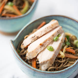 The Kitchn Cookbook's Cold Peanut Sesame Noodles with Pan-Seared Chicken.