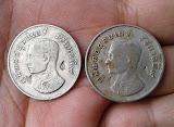 เปิดวัดใจยกคู่ 2 เหรียญ  บาทขวัญถุง หลวงปู่หมุน วัดบ้านจาร