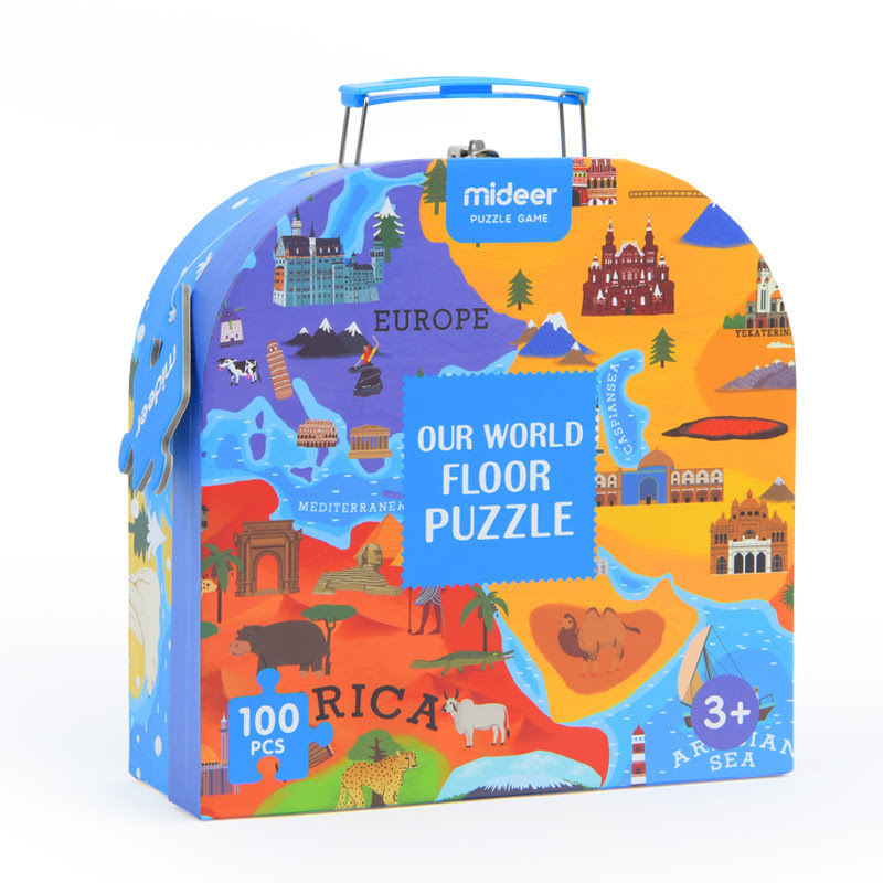 Mideer - Our World Floor Puzzle 100pcs - MS.15.200