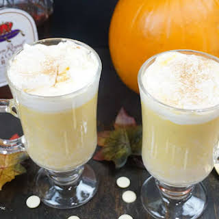 Pumpkin White Hot Chocolate with Crown Royal Salted Caramel Whisky.