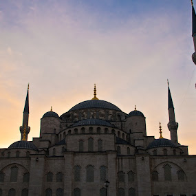 Blue Mosque at dusk, Istanbul by Sandeep Kochar - Buildings & Architecture Statues & Monuments