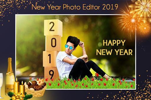 New Year Photo Maker 2019 : Frame, Greeting Card 1.1 screenshots 1