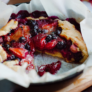 Mixed Berry Cornmeal Galette