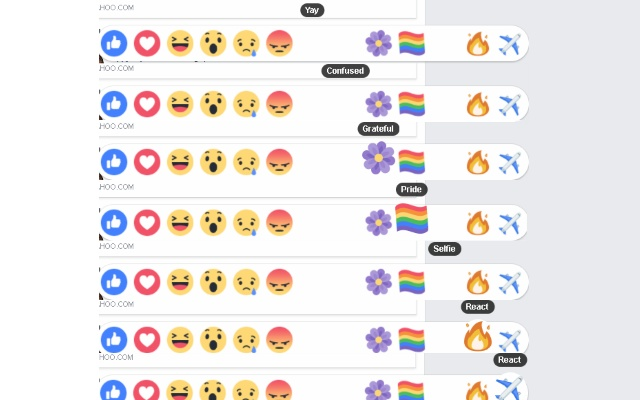 Unused Reactions for Facebook