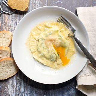 Egg Yolk Ravioli.