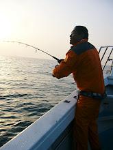 Photo: 親分も!ヒット! 昨日はサンライズでの釣行! 連チャン釣り、ありがとうございます!