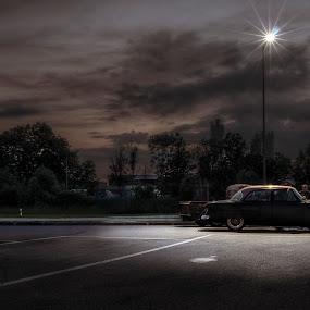 Leave a dim light on by Matthias Weigel - Transportation Automobiles ( regensburg, hdr, classic car meet, pentling )