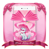 Pink Kitty Bow 3D Theme