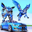 Police Robot Transform Unicorn Flying Horse Hero icon