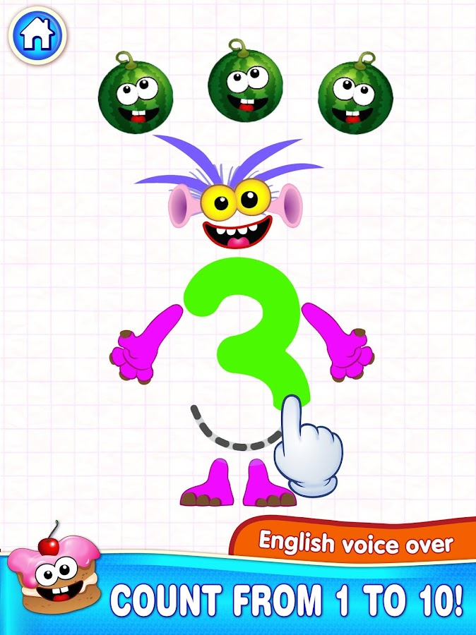 Learning numbers for kids! Writing Counting Games!- screenshot