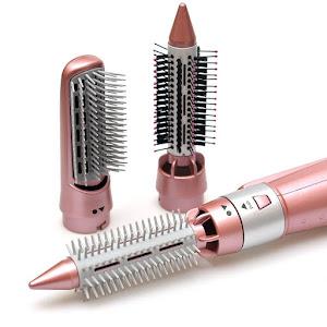 Perie electrica cu aer cald, Gemei GM-4831- 7 in 1, Pink, 2200W