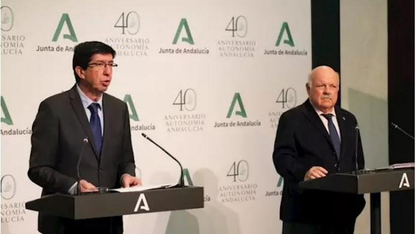 Juan Marín y Jesús Aguirre.