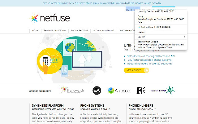 Netfuse Click to Call