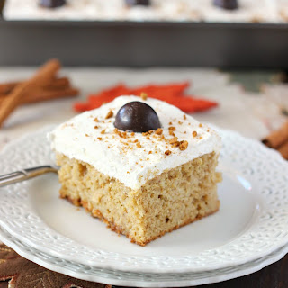 Spiced Pumpkin Poke Cake