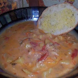 Pressure Cooker Manhattan Clam Chowder.