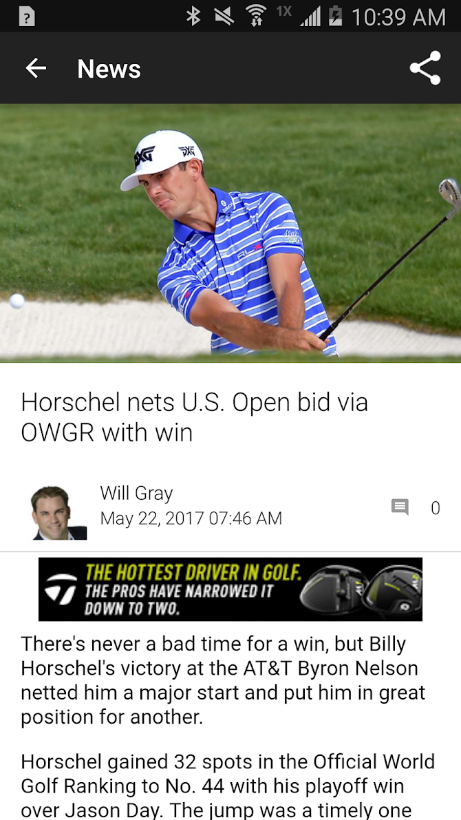 Golf Channel Mobile Android 2