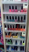 Photo: Look what I spotted a very small nail polish display. The brand is called Spoiled, I picked a color called, Paying with Platinum.