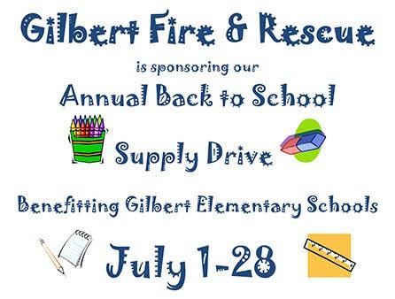 Gilbert AZ School Supplies List 2015