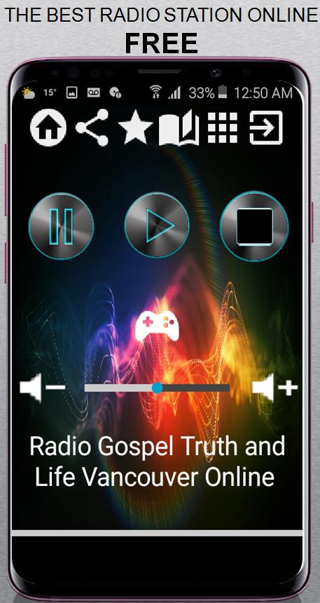 Скриншот Radio Gospel Truth and Life Vancouver Online CA Ap