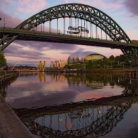 Sunset Tyne Bridge by Davey T - Buildings & Architecture Bridges & Suspended Structures ( tyne, quayside, gateshead, newcastle, tyne bridge )