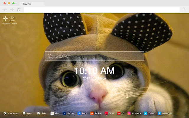 """Cat"" New Tab Page HD Wallpapers Themes"
