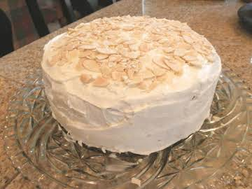 Almond Ricotta Cake (a 2 layer cake)